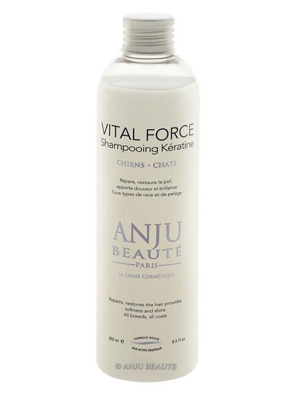 Flacone shampoo Vital Force di Anju Beauté