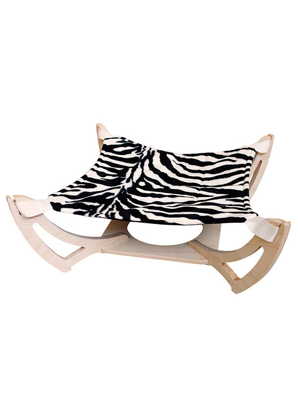 Amaca Siesta con ecopelliccia zebra by Habicat