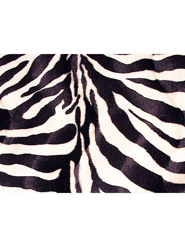 Campione ecopelliccia Zebra