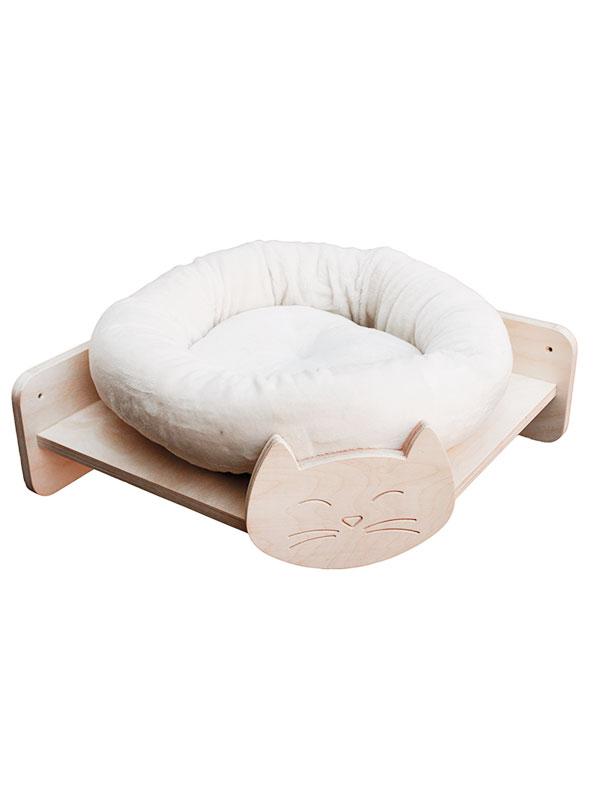 Parete attrezzata per gatti modulo ripiano angolo con for Parete attrezzata gatti