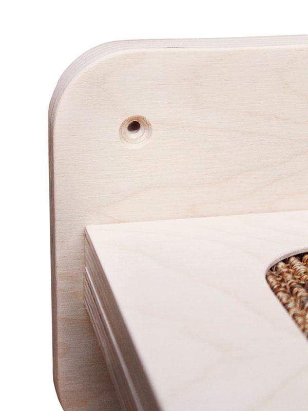 Parete attrezzata per gatti modulo mensola da 60 cm in for Parete attrezzata gatti
