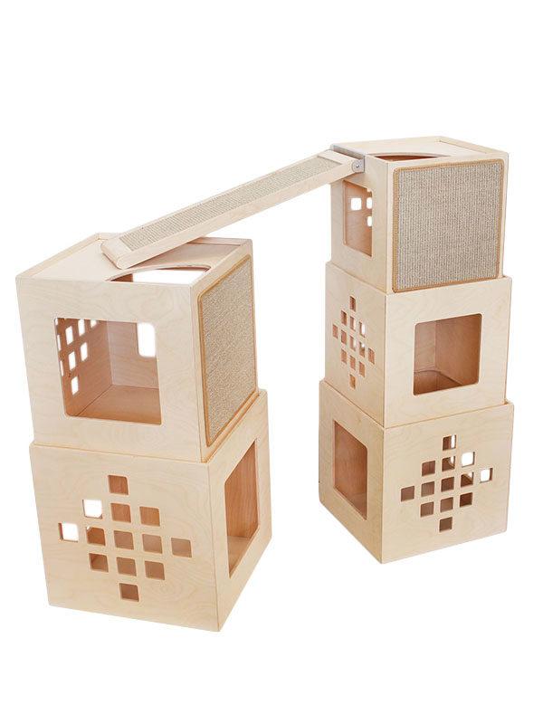 Composizione Maya 5 cubi e ponte