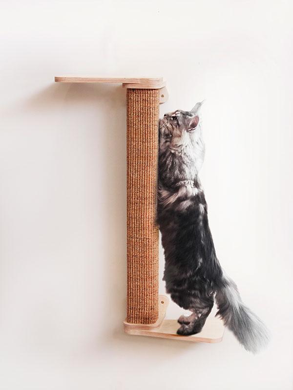 Parete attrezzata per gatti modulo palo tiragraffi in for Parete attrezzata gatti