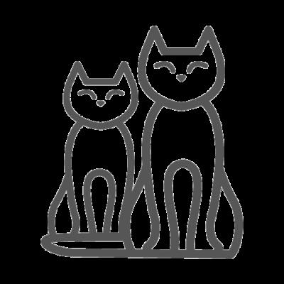 Esempio di parete attrezzata per gatti con parete angolare for Parete attrezzata gatti